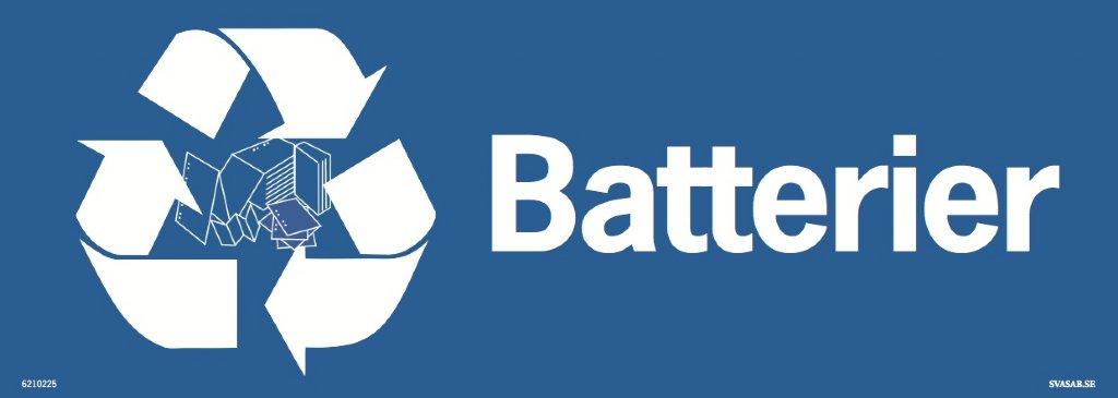 Batterier återvinning