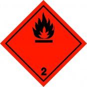 ADR STICKER / SIGN - CLASS 2.1a FLAMMABLE GAS GAS