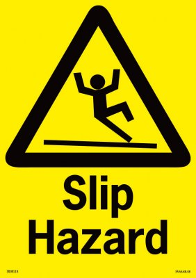 SLIP HAZARD SIGN